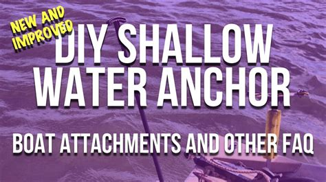 shallow water anchor for pontoon boat diy shallow water anchor mounts how to use your ancho