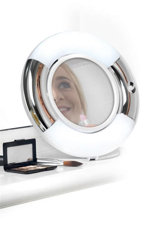 double sided bathroom mirror beldray la036094 double sided led vanity mirror bathroom