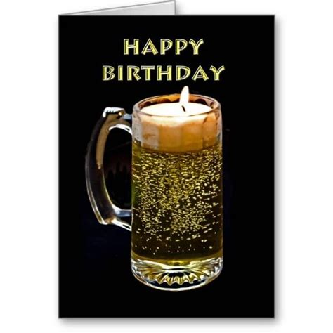beer happy birthday images happy birthday beer candle greeting card http www