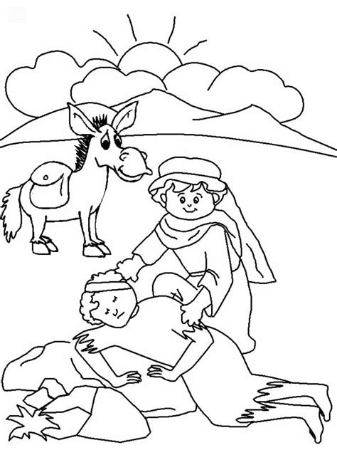Good Samaritan Coloring Pages Collections Gianfreda Net Samaritan Coloring Page