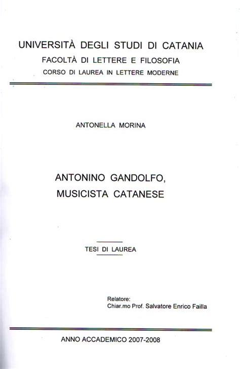 lettere moderne unibo antonella morina tesi di laurea antonino gandolfo