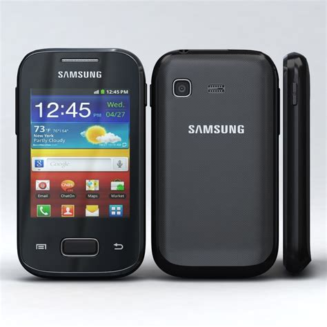 Hp Samsung S 5300 Galaxy Pocket 3d model samsung galaxy pocket s5300
