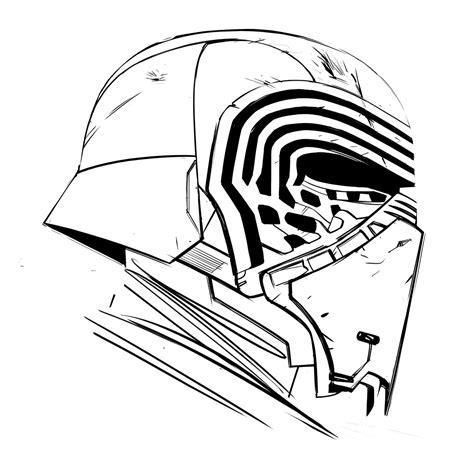 kylo ren helmet coloring page kylo ren drawing поиск в google superhype pinterest