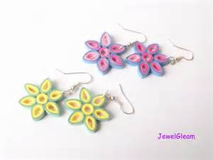How To Make Easy Paper Earrings At Home - paper quilled flower earrings tutorial