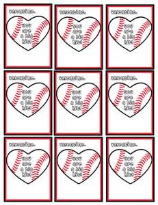 9 best images of baseball valentine s day cards printable