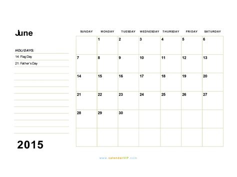template of june 2015 calendar june 2015 calendar blank printable calendar template in