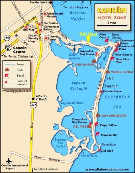 maps cancun riu caribe hotel resort cancun