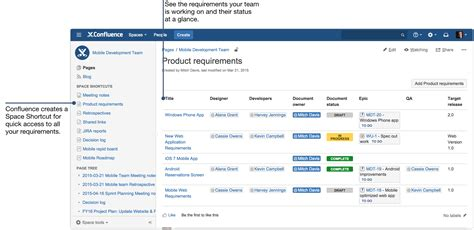 confluence create template how to document product requirements in confluence