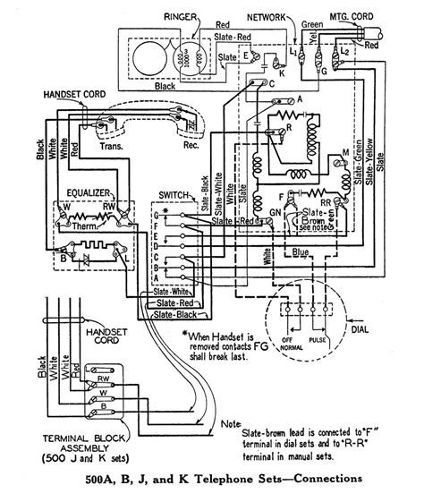 rotary telephone wiring diagram wiring diagrams