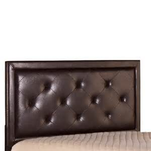 becker headboard faux leather brown king h target