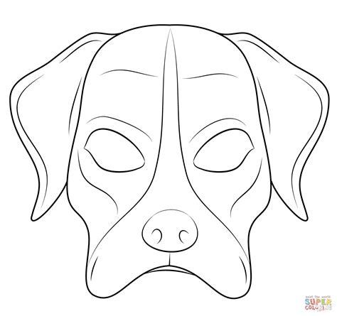kolorowanka maska psa kolorowanki dla dzieci druku