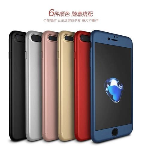 i paky 174 apple iphone 7 plus 360 protection metallic finish 3 in 1 ultra thin slim front