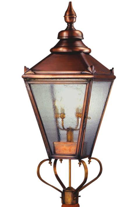 copper l post lantern hton english copper lantern post light head for sale