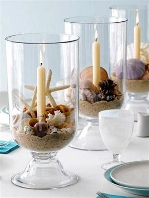 How To Decorate Candles At Home by Beach Wedding Diy Beach Wedding Centerpiece Idea