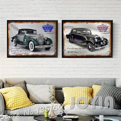 Classic Car Home Decor by Aliexpress Buy 2 Classic Cars Wall Decor