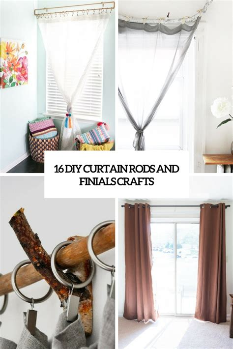 diy curtain rod finials 16 diy curtain rods and finials crafts shelterness