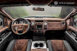 Ford F150 Truck Interior Accessories Edition Ford F150 With Custom Leather And Wood