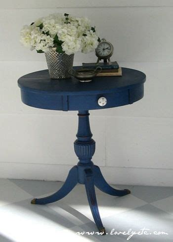 napoleonic blue chalk paint happy wax and side tables