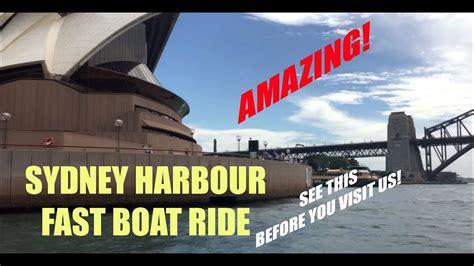fast boat sydney harbour sydney harbour fast boat ride 2018 youtube