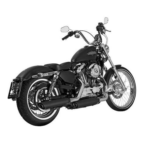 Akrapovic Exhaust System For Harley Sportster Akrapovic Slash Cut Slip On Exhaust For Harley Sportster