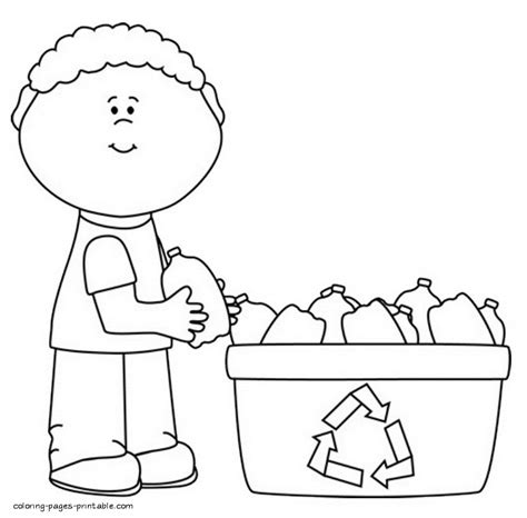 printable coloring pages recycling the gallery for gt recycle sign printable