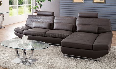 Pantek Furniture by S801 Sectional Sofa In Chocolate Leather By Pantek