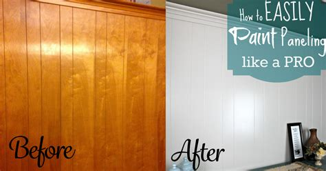 painted wood paneling diy home repair hack easily paint wood paneling