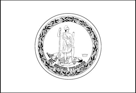 Virginia State Flag Page Coloring Pages Virginia State Flag Coloring Page