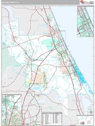 zip code map volusia county volusia county fl wall map premium style by marketmaps