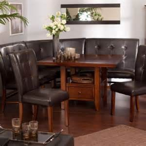 Nook Dining Room Set by 6 Kitchen Dining Room Set Leather Wood Corner Breakfast