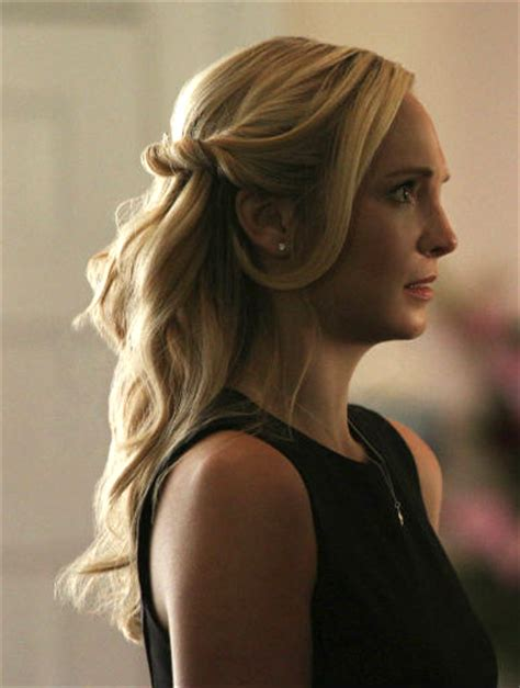 hairstyles diaries caroline forbes hair at her sheriff forbes funeral
