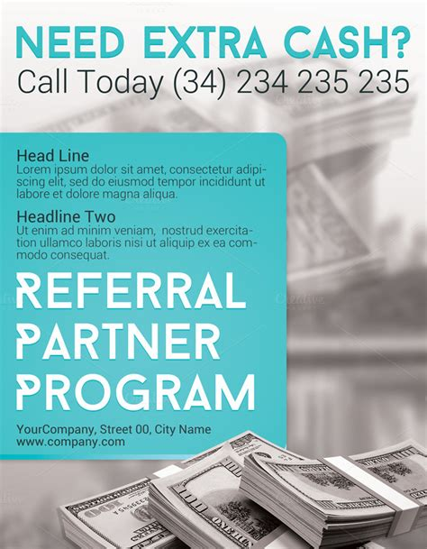 referral flyer template referral partner program flyer flyer templates on