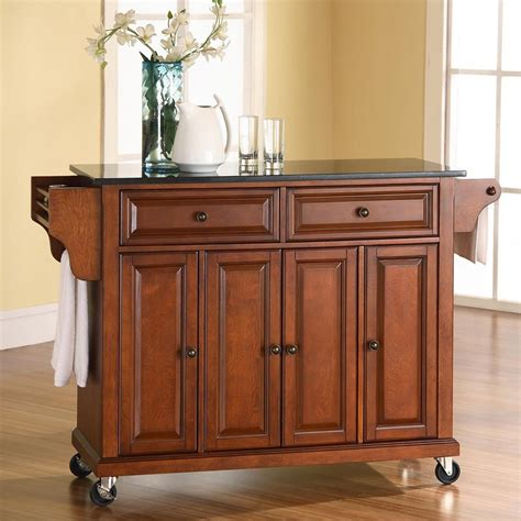kitchen island lowes shop crosley furniture brown craftsman kitchen island at