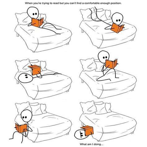 posizioni a letto per le posizioni per leggere words