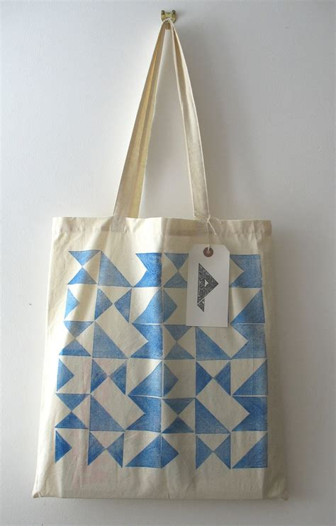 Printed Bag tote bag signals design printed cotton tote bag