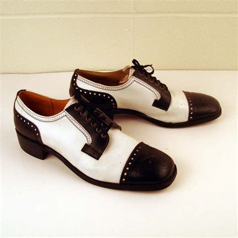 black white oxford shoes vintage 1970s black and white saddle leather oxford shoes