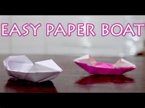 how to make a paper boat in hindi how to make easy paper boat for kids diy in hindi youtube