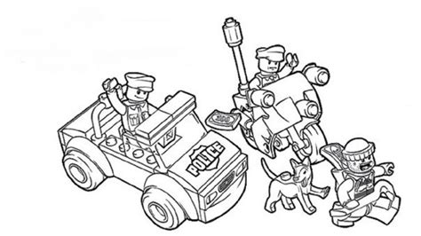 lego coloring pages police  lego coloring pages