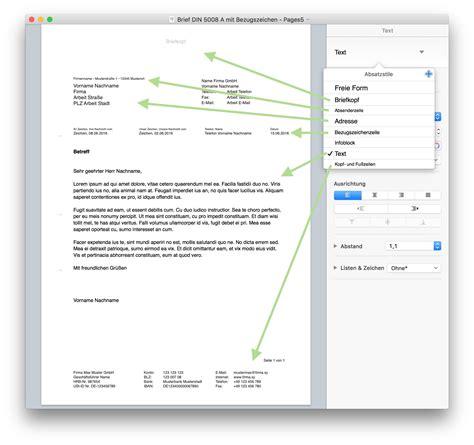 Word Vorlage Brief Mit Falzmarken Pages Briefvorlage Norm Din 5008 Mit Bezugszeichenzeile Numbersvorlagen De