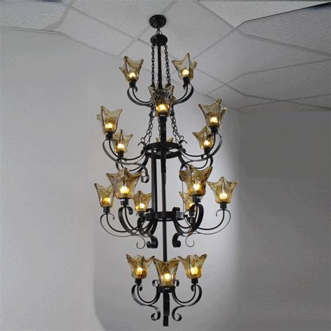 Vintage Iron Chandelier Antique Wrought Iron Chandeliers Foyer Vintage Antique Chandelier Edison Glass Shade Light