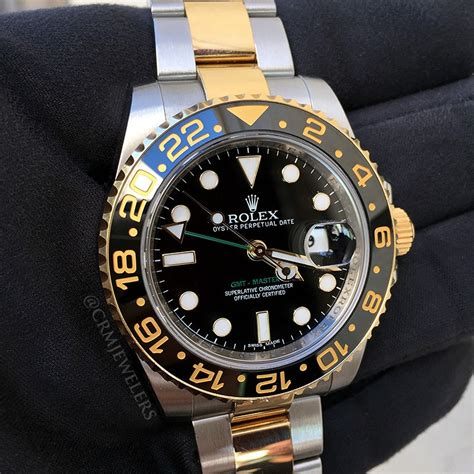 Rolex Gmt Master Ii As rolex gmt master ii two tone black crm jewelers miami fl