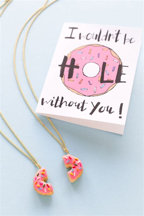 diy best friend necklaces diy food friendship necklaces a giveaway diy donuts friendship and clay crafts