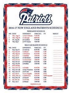 Printable 2016 2017 new england patriots schedule
