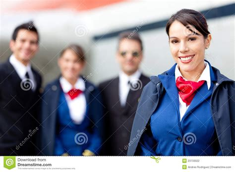 Flight Attendant Cabin Crew by Flight Attendant With Cabin Crew Stock Photography Image