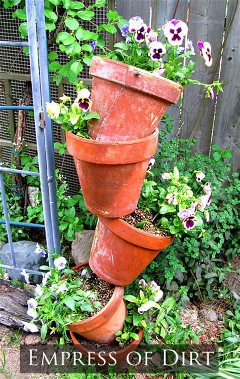 Planter Tower by How To Make A Topsy Turvy Plant Tower