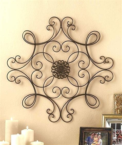 2018 popular faux wrought iron wall