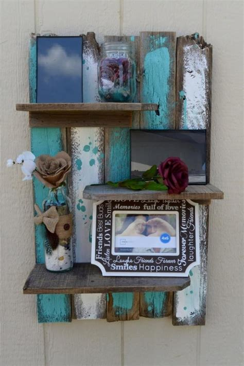 on the shelf ideas 40 and easy ideas a thrifty recipes crafts diy and more simple rustic pallet wall shelf pallet ideas recycled upcycled pallets furniture projects