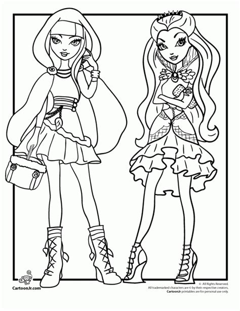 ever after high christmas coloring pages get this online ever after high coloring pages 43569