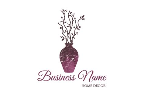 home decoration logo vase home decor logo