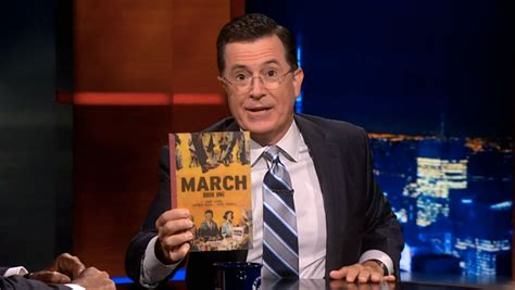 colbert report book congressman lewis tells stephen colbert quot for 53